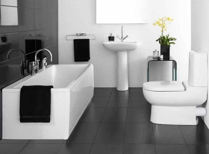 Black And White Color Ideas For Elegant Bathroom Ddr