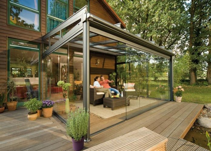 Glass Canopy for relaxing