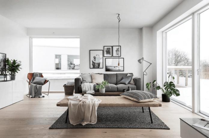 Scandinavian color interior