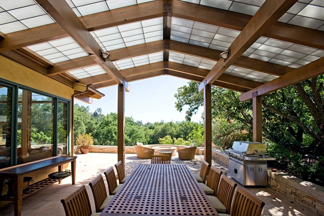 wooden canopy for home