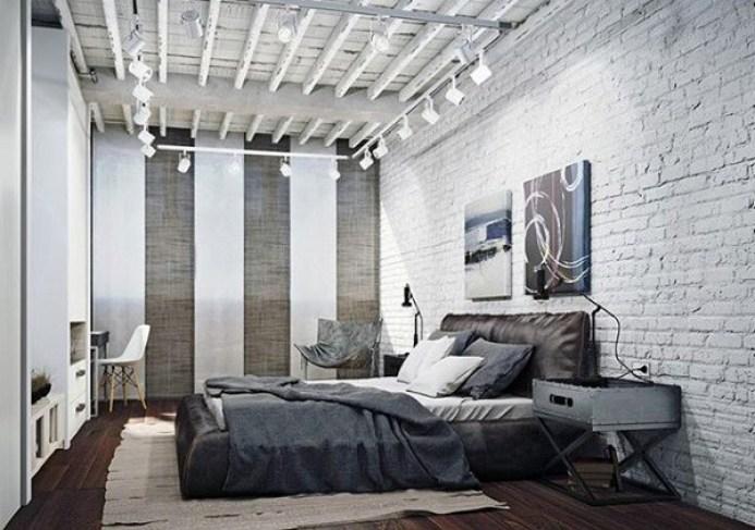 Insdustrial Masculine Bedroom