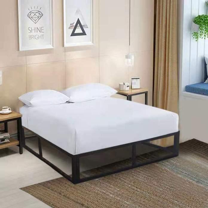 minimalist iron bedframe
