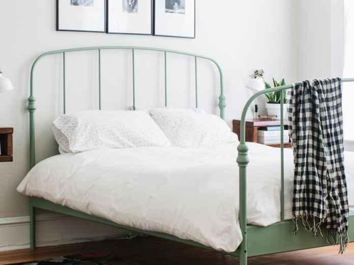 repainted bedframe