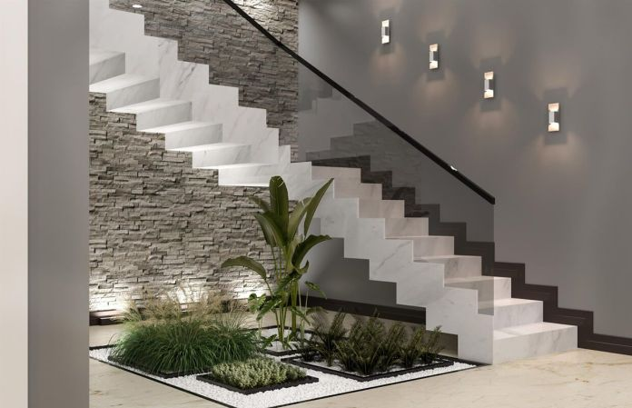 Elegant Glass Staircase Design