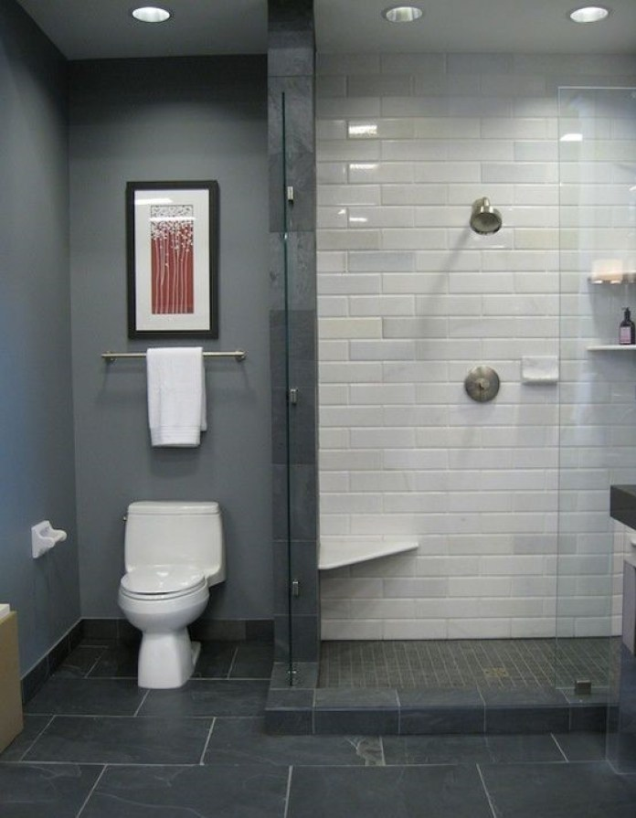 Elegant Gray Bathroom