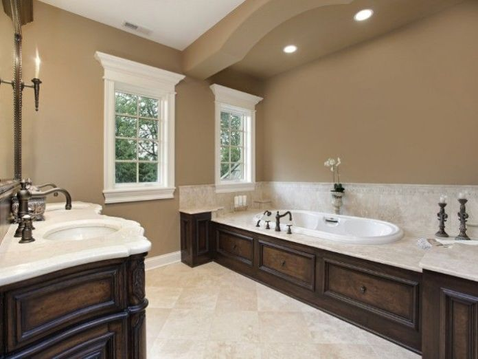 Mocha Color Bathroom