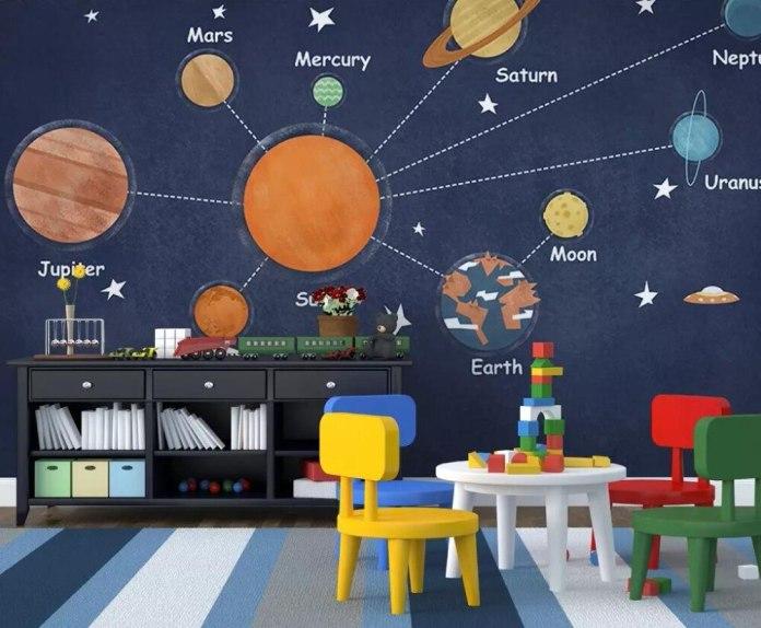 Space Children's Bedroom Wallpaper