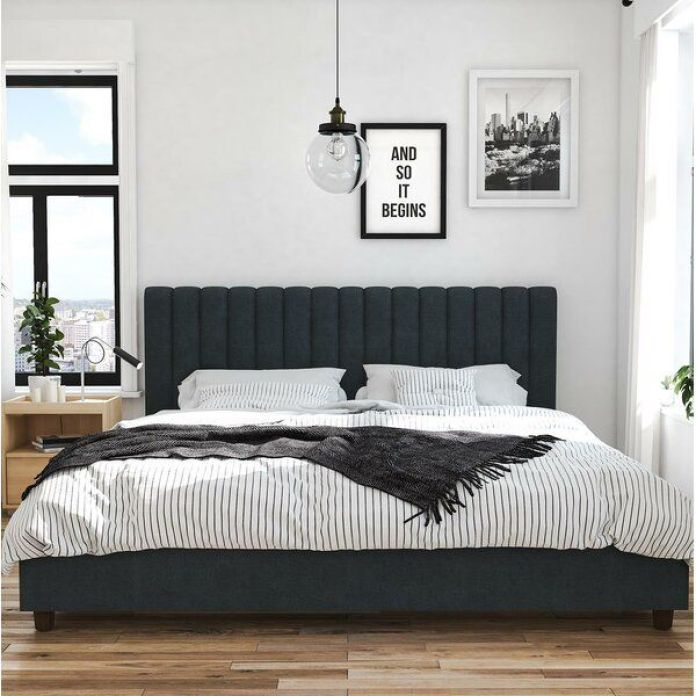 Wooden Bedroom With Monochrome Style