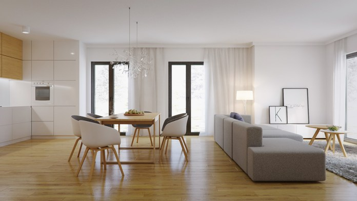 Casual Scandinavian Dining Room