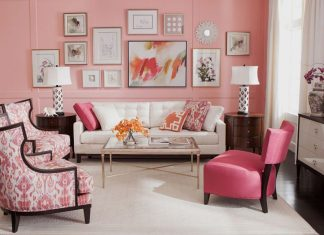 Beautiful Pink Living Room Decoration Ideas