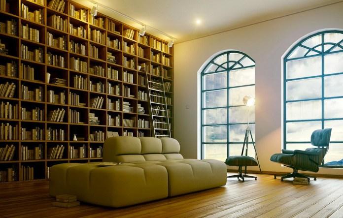 Beige Mini Library