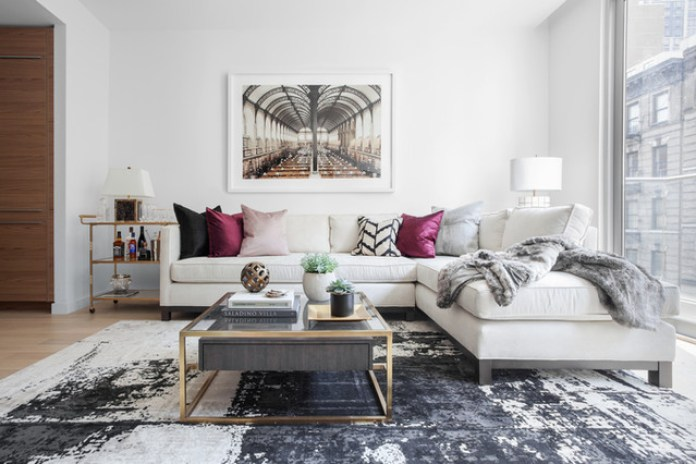 White Feminine Living Room