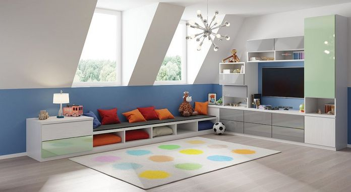 Cheerful Contemporary Playroom