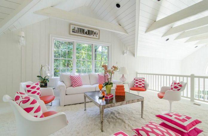 Pink Feminine Living Room