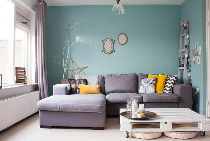 Teal Feminine Living Room