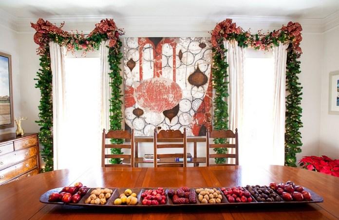 Festive Mural Dining Room