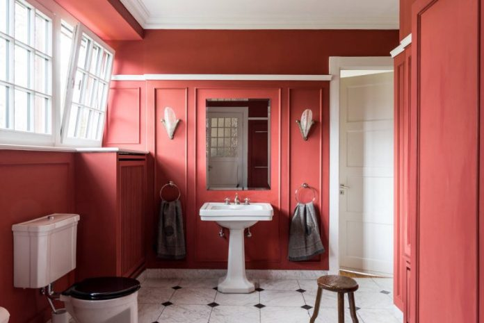 Classic Red Bathroom
