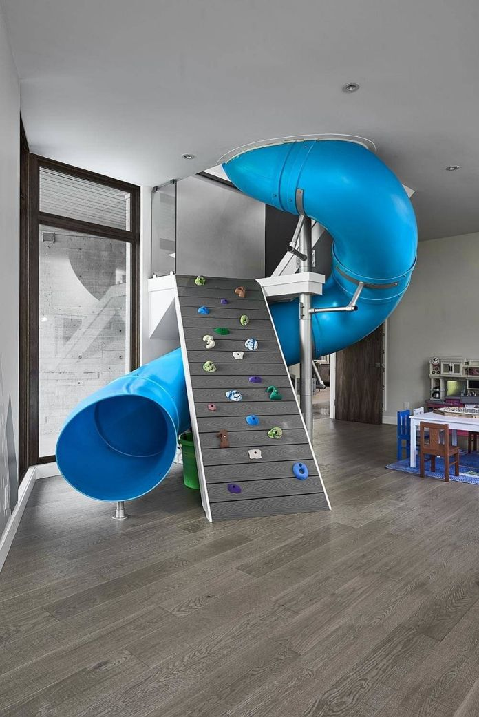 Climbing Walls With Tube Slides