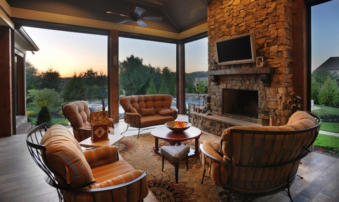 Warm Outdoor Living Room