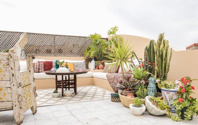 Bohemian Rooftop Garden