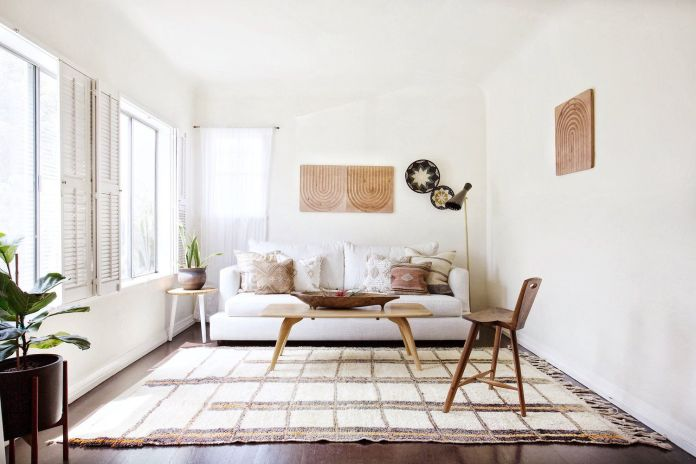 Earth Tone Bohemian Living Room