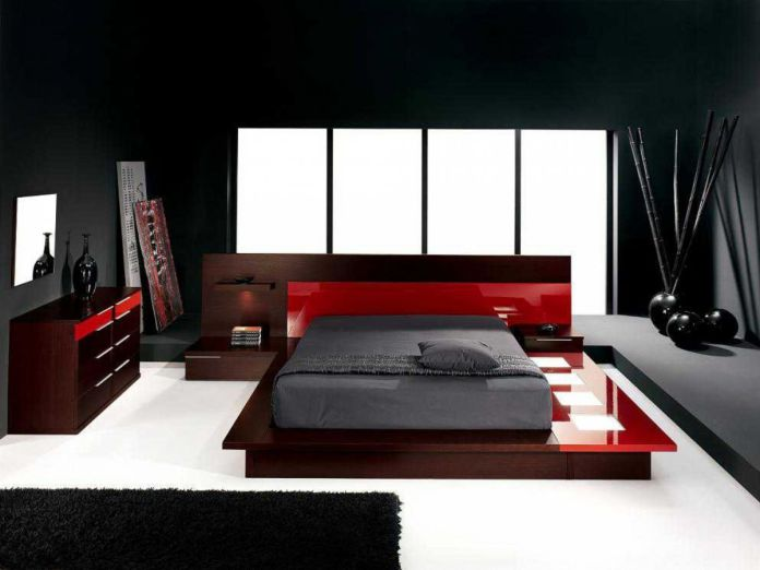 Japanese Red Bedroom
