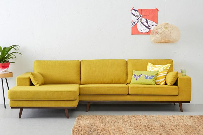 Yellow Sofa in a Minimalist Interior