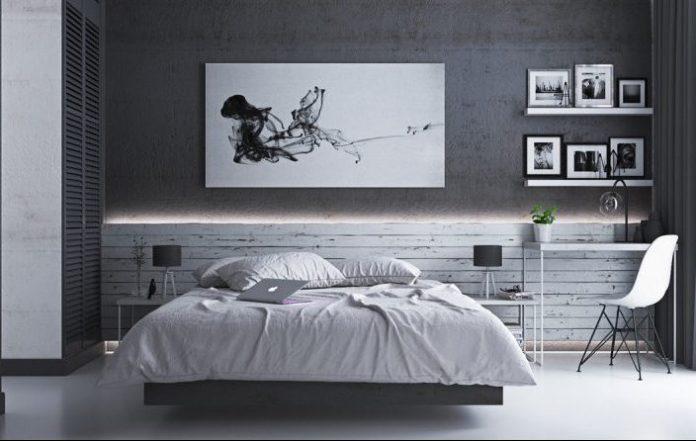 Monochrome Gray Bedroom