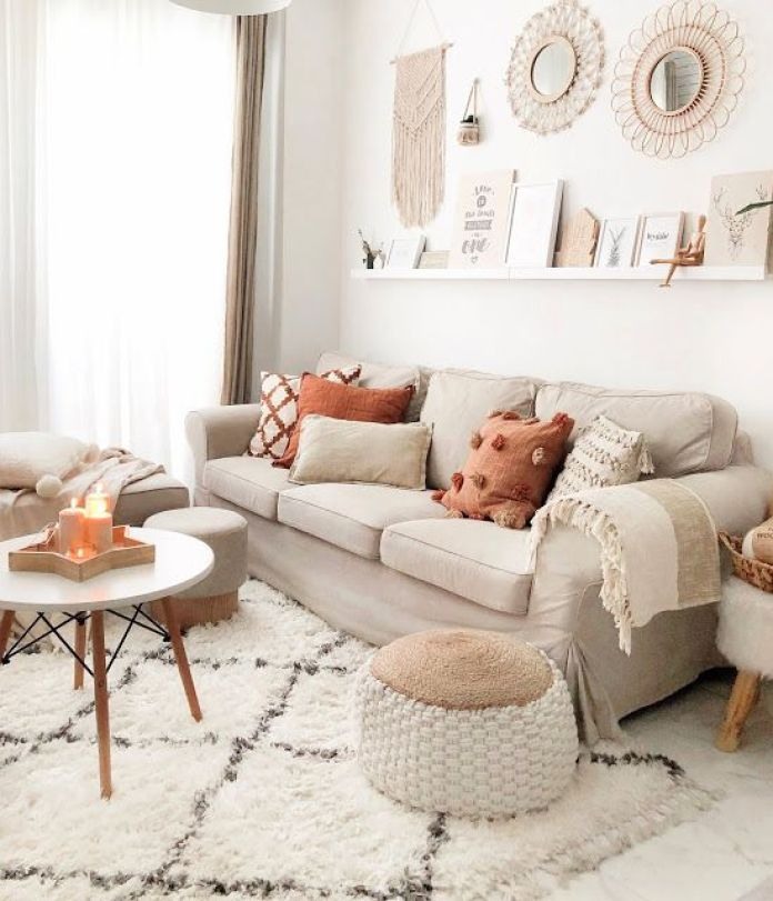 Striped Rug with Neutral Colors