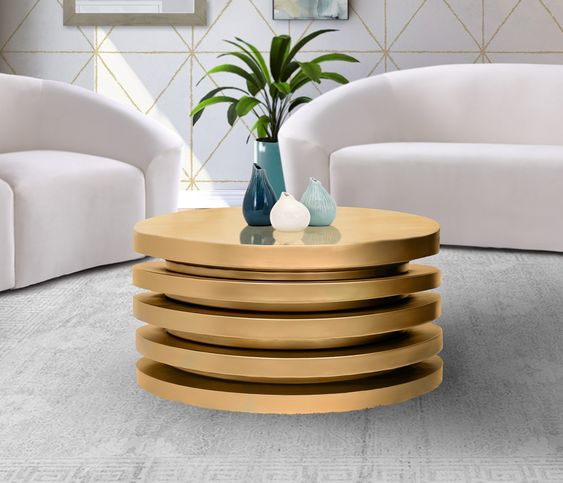 Gold Stylish Coffee Table