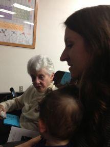 My Grandma (John's mom), and my daughter and wife.