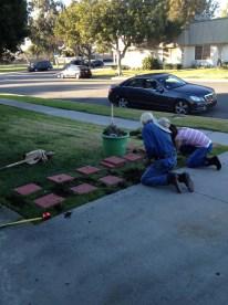 Sarah and Fritz hard at work