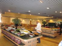 Inside the kibbutz; was tasty!