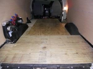 Completed Van Subfloor