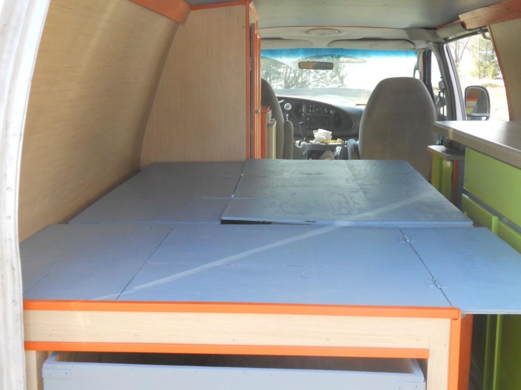 Expanded van bed
