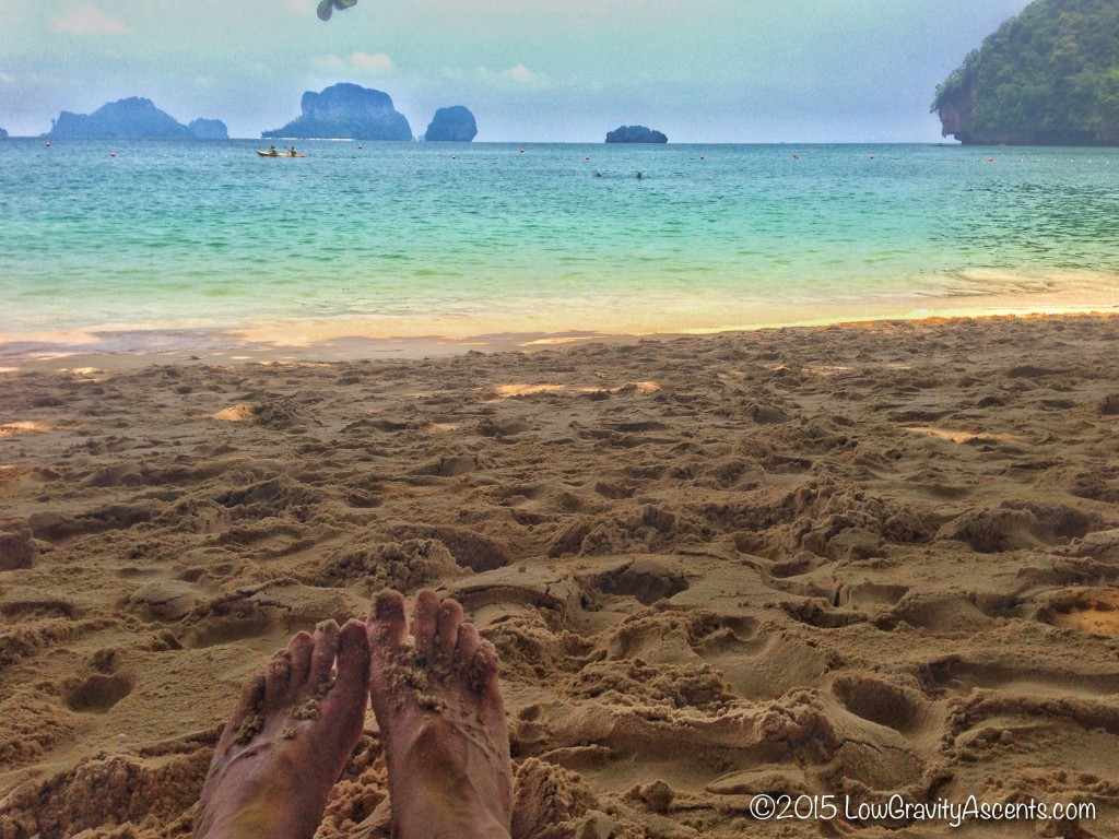 Feet in the Thailand Sand