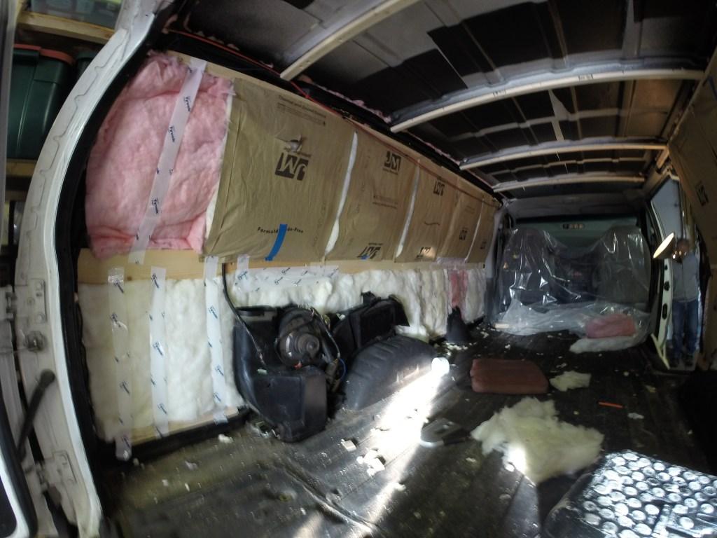 Van fiberglass insulation