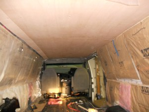 Finished van ceiling