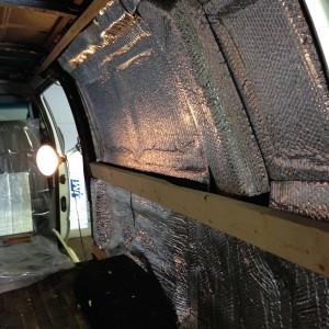 Reflectix van wall Passenger