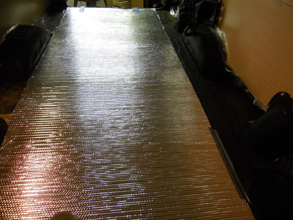 Van floor reflectix insulation
