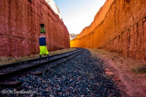VanLife Railroad Track handstand in Utah