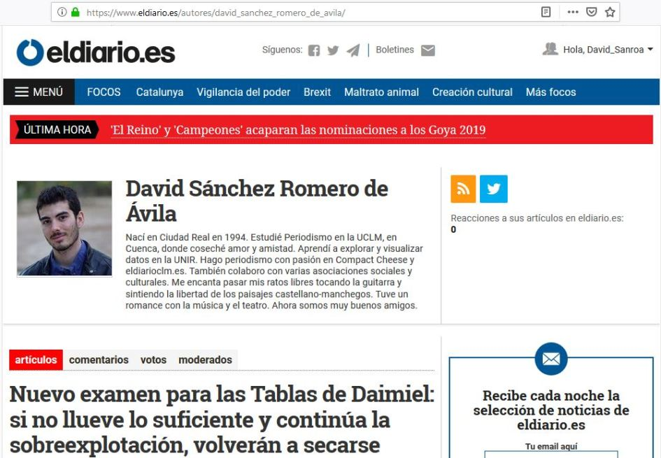 Página de autor en eldiarioes