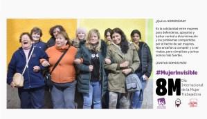 Sororidad, fotografía perteneciente a la exposición fotográfica #MujerInvisible, realizada en Puertollano en marzo de 2020