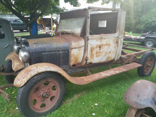 1929 Ford Model A Aa Stake Flat Bed Truck Patina Barn Find