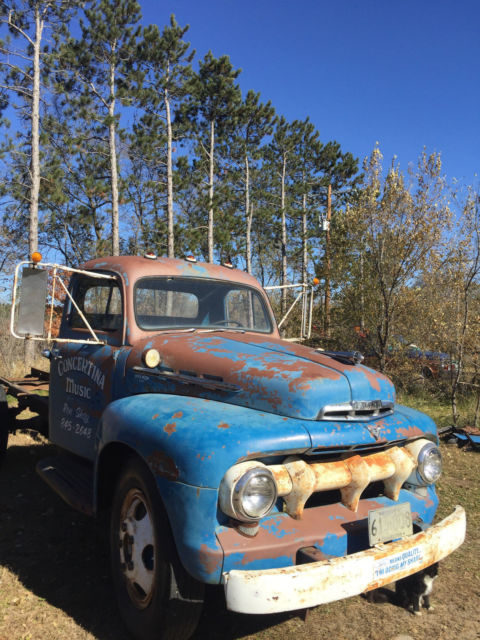 1951 Ford F6 Truck Project Farm Truck Ratrod Pickup Cab 51 For Sale Ford Other Pickups 1951
