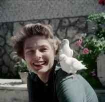 Ingrid Bergman with Doves, 1952.