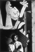 Pablo Picasso and detail of Guernica France, 1937