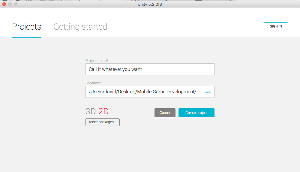 Unity2D Setup