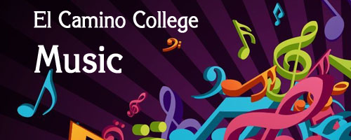 illustrated logo for El Camino College Music