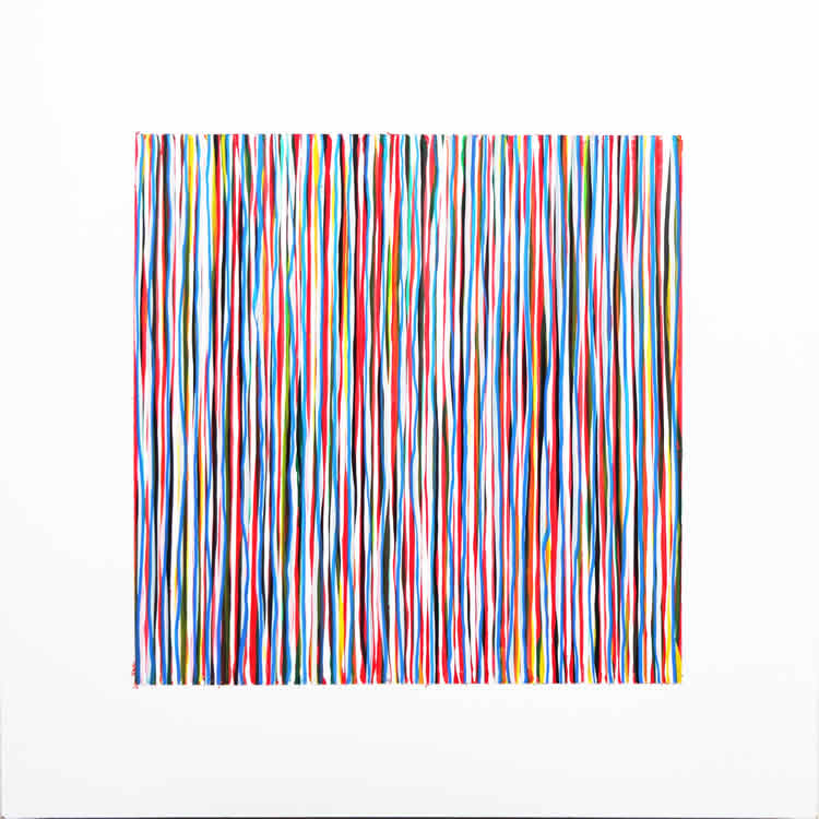 Colourful Black Square 2 - painting by David Smith
